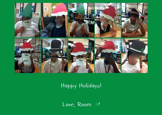 Creating Class Christmas Cards
