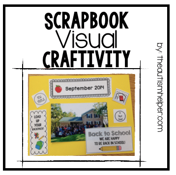 Scrapbook Visual Craftivity
