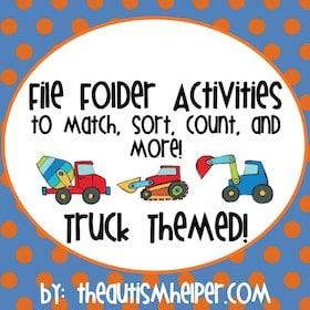 Truck Themed File Folder Activities