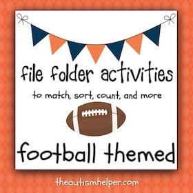 Football File Folder Activities
