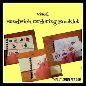 Visual Sandwich Ordering Booklet