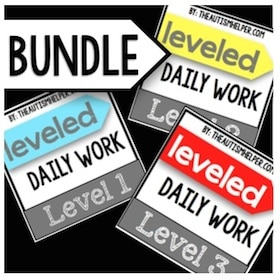 Leveled Daily Work {BUNDLE}