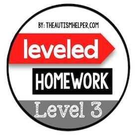 Leveled Homework {Level 3}