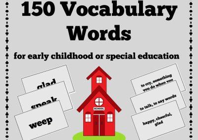 150 Vocabulary Words