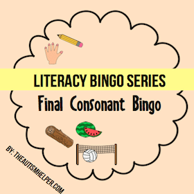 Final Consonant Bingo