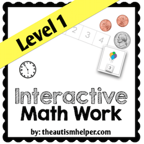Interactive Math Work {Level 1}