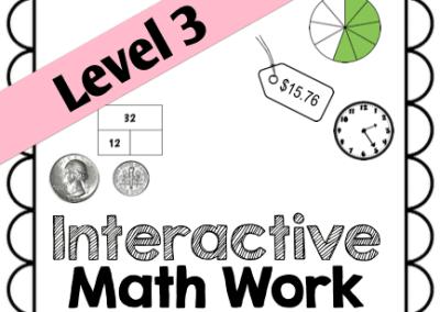 Interactive Math Work {Level 3}