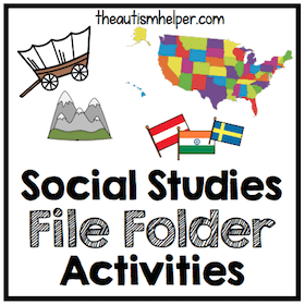 Social Studies File Folder Activities