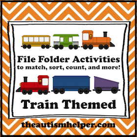 Train Themed File Folder Activities