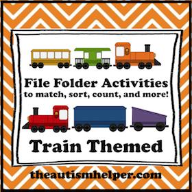 Train Themed File Folder Activities