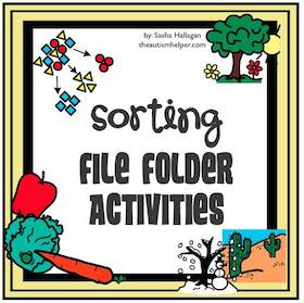 Sorting File Folders by Habitat, Temperature, & Category