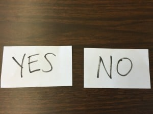 Answering Yes and No Questions {Verbal & Nonverbal Procedures}