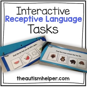 Interactive Receptive Language Tasks