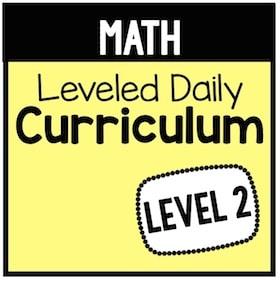 Math Leveled Daily Curriculum {Level 2}