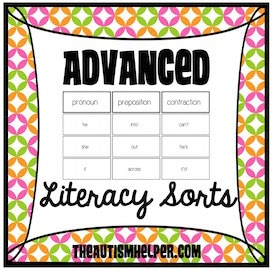 Advanced Literacy Sorts