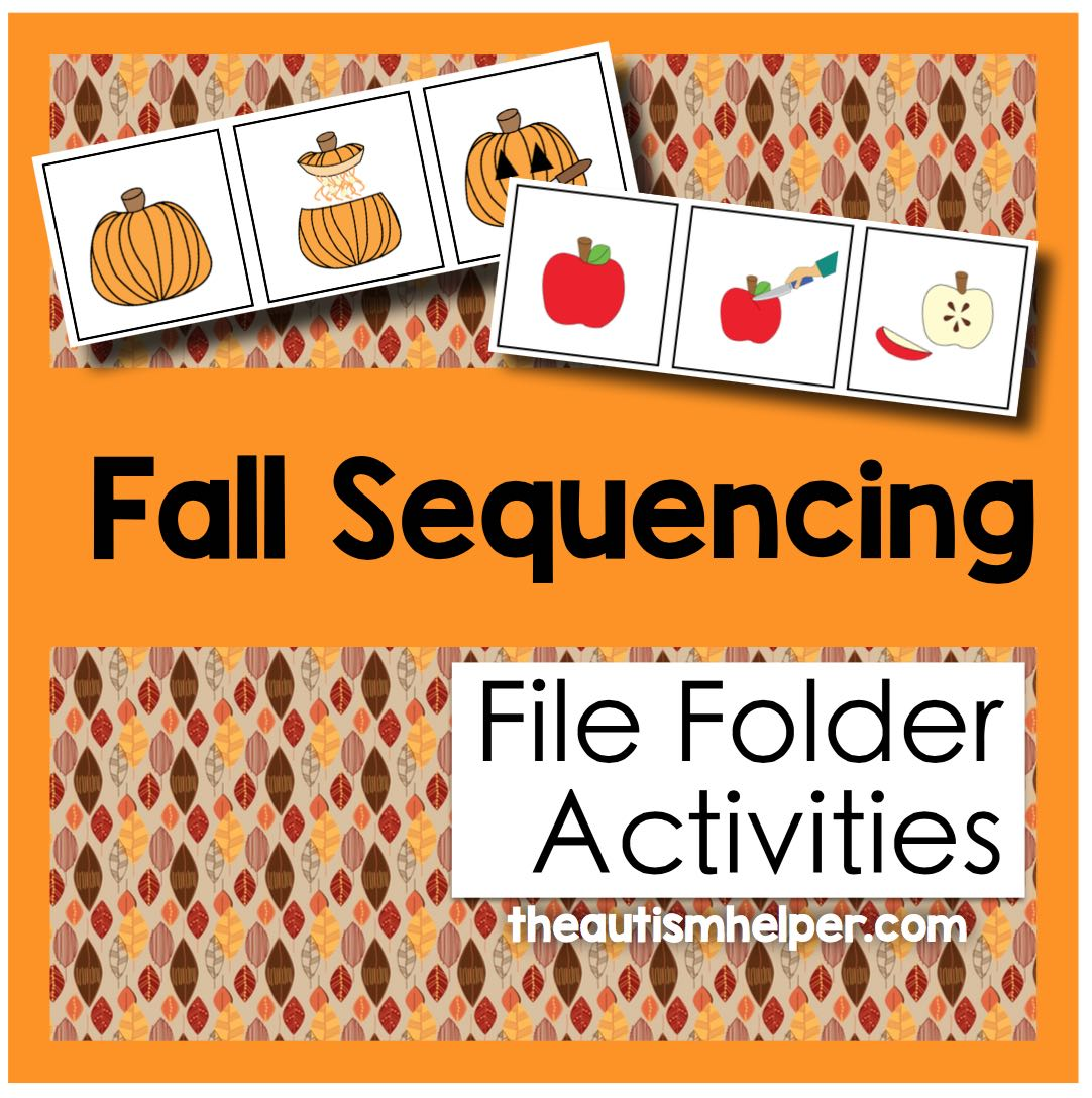 Fall Themed Sequencing File Folder Activities