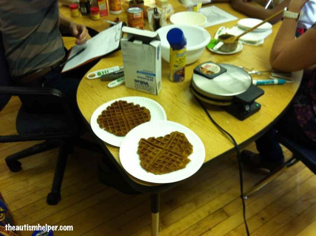 The Autism Helper Pumpkin Waffles