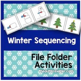 Winter Sequencing File Folder Activities