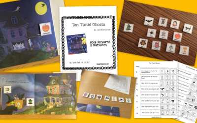"""""""10 Timid Ghosts"""" Book Pictures and Questions {freebie!}"""