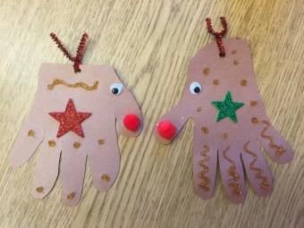 Finished Reindeer Craft