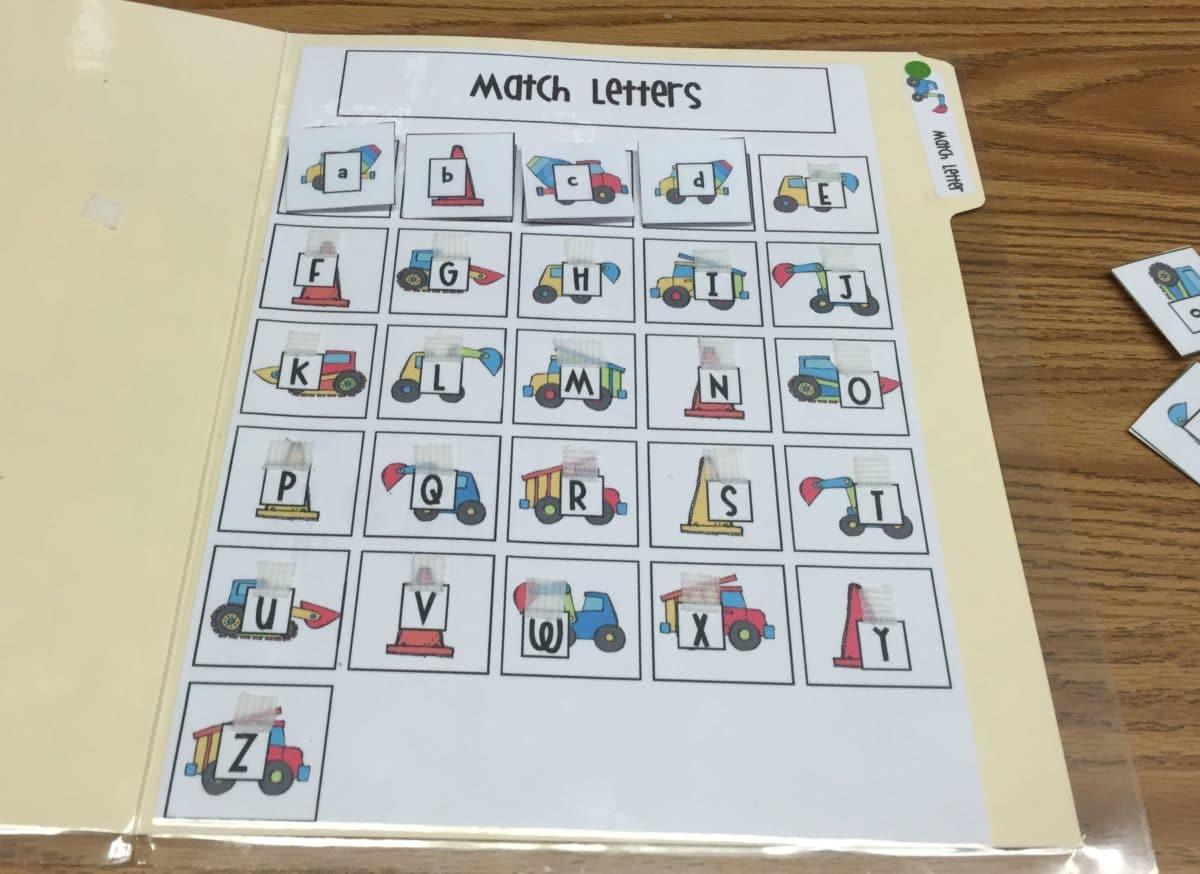 File Folder Match Letters 2