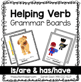 Helping Verb Grammar Cards