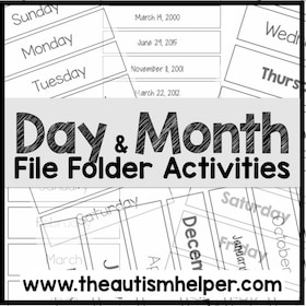 Day & Month File Folder Activities