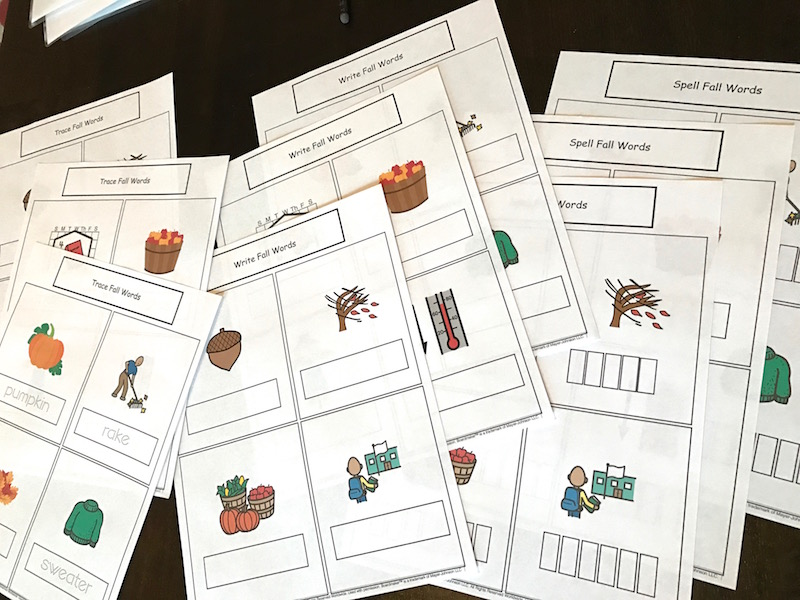 Fall Vocabulary Unit