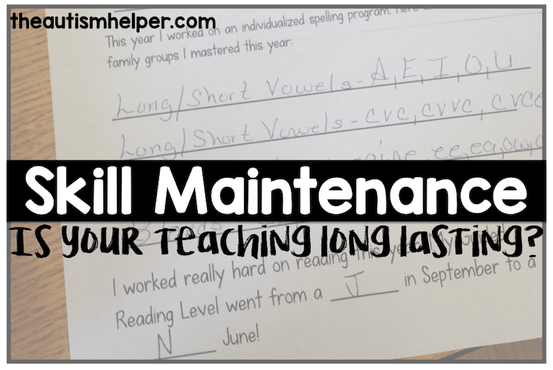 Skill Maintenance: Is your teaching long lasting?