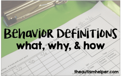 Behavior Definitions {what, why, & how}