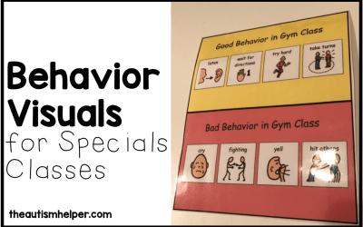 Behavior Visuals for Specials Classes