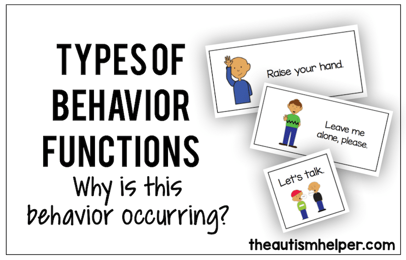 Types of Behavior Function {Why is that behavior occurring
