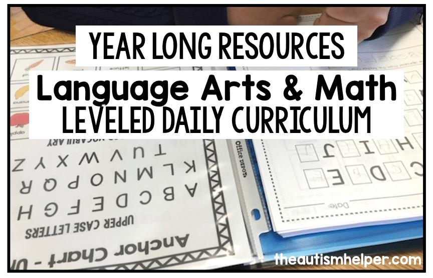 Language Arts and Math Leveled Daily Curriculum