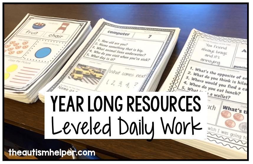 Leveled Daily Work