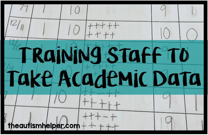 Teaching Staff to Take Data