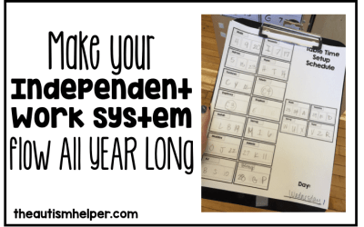 Making Your Independent Work System Flow ALL YEAR LONG