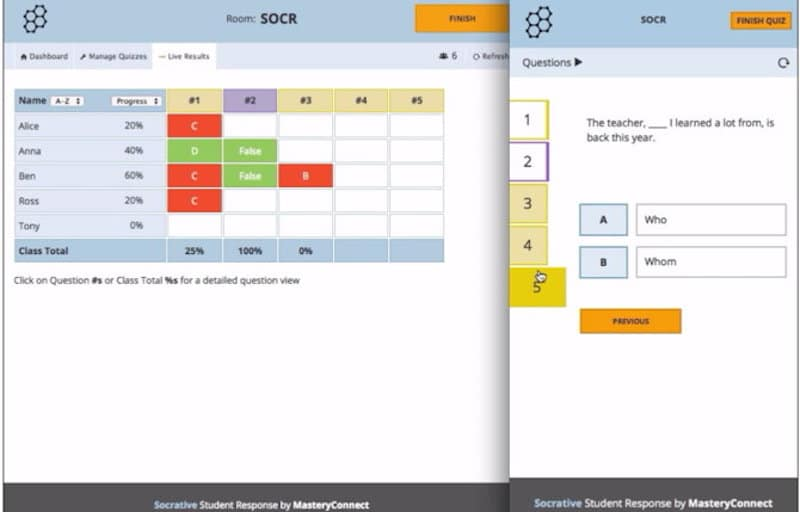 The Socrative App: Data Collection & Assessment