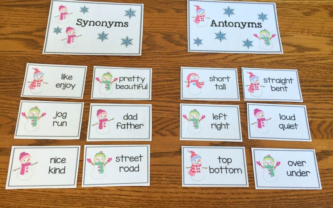 Free Snowman Synonyms and Antonym Sort!