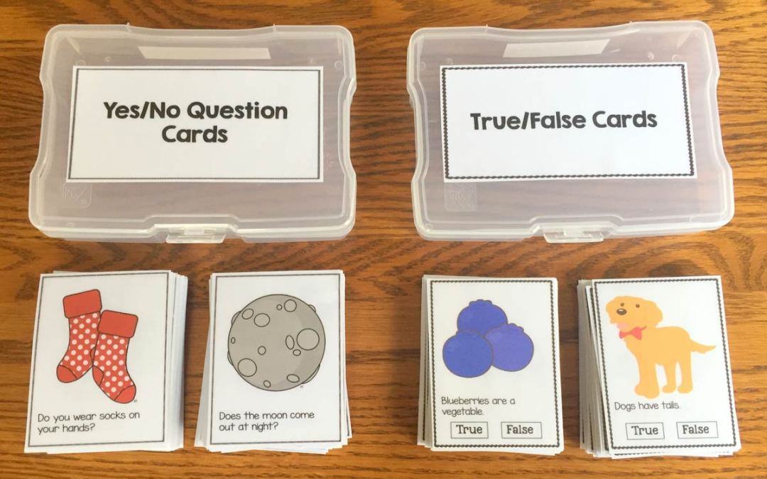 Yes/No and True/False Task Cards!