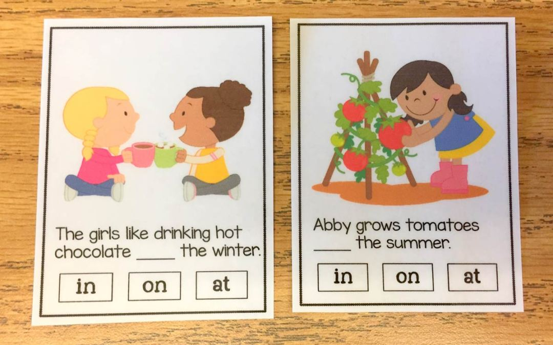 Time Preposition Task Cards!