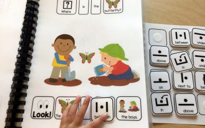 Where is the Butterfly? and Free Preposition Scene Matching Activity!