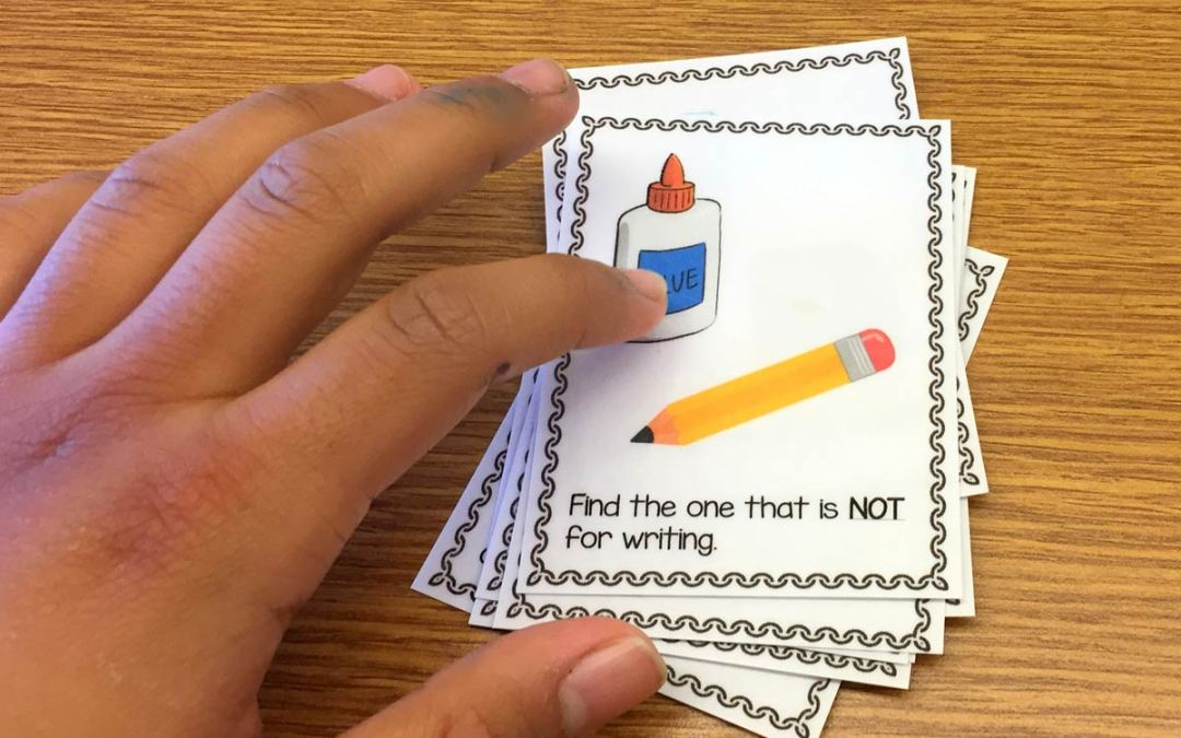 Building Up Vocabulary Skills Using Task Cards