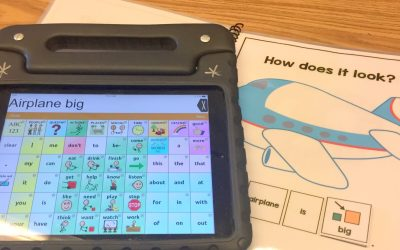 Using Adjective Adapted books with AAC Devices