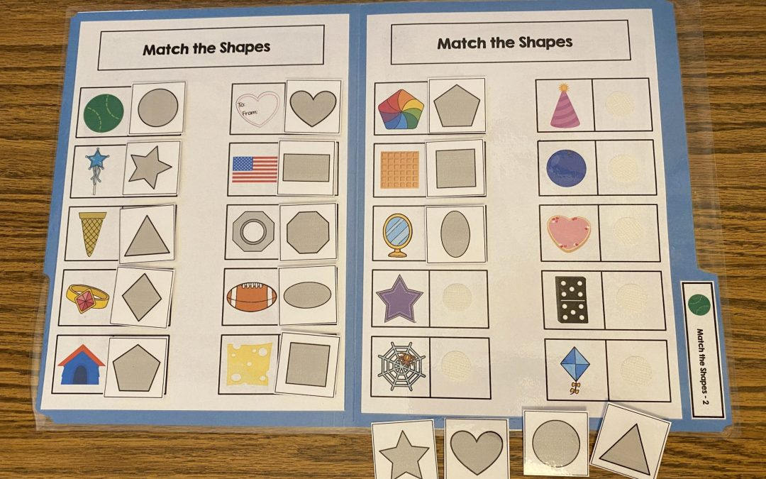 Shape Themed File Folder Activities