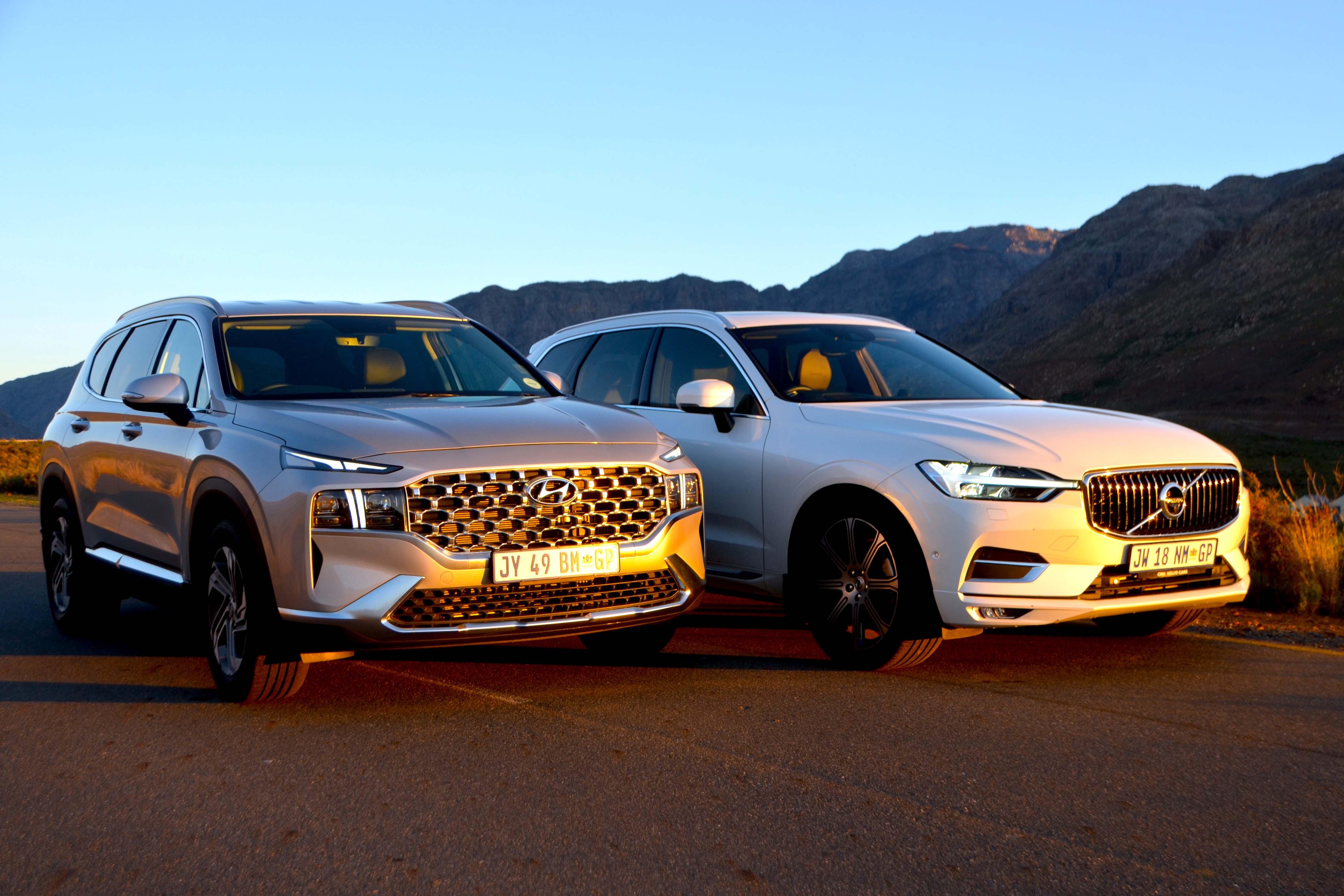 Hyundai Santa Fe & Volvo XC60