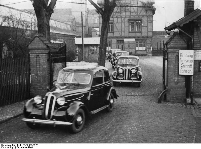 Автомобили BMW 321 Айзенах 1948 год