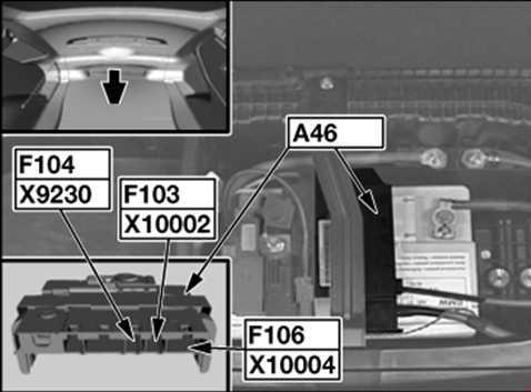 Предохранители и реле двигателя BMW 1 E81 / E82 / E87 / E88