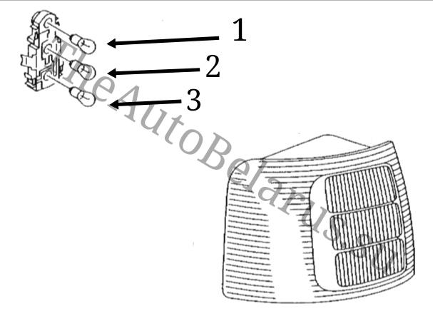 Лампочки заднего фонаря Audi A6 C5