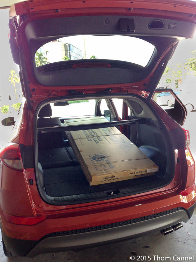 How do you open Hyundai Tucson trunk from inside