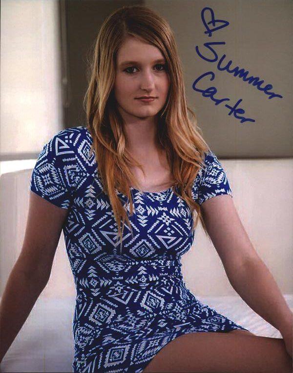 Summer Carter Signed Model 8x10 Photo Proof Certificate D3